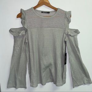 NWT BOUTIQUE COLD SHOULDER SWEATER - M/L